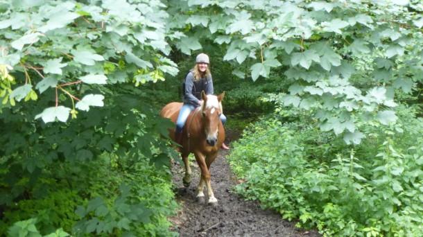 Anke Sparmann und ihr Pferd Sally (Quelle: privat)