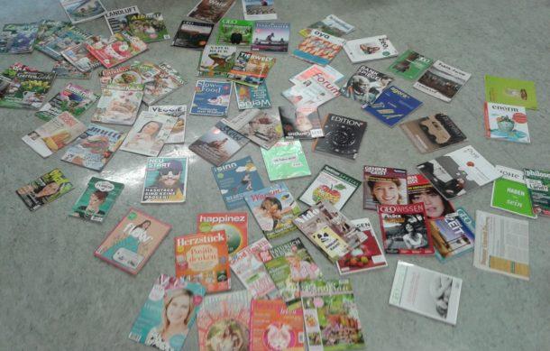 """Eine erste Struktur: Das neue Zeitschriftensegment """"Sinn + Muße"""" umfasst derzeit rund 70 Titel (Quelle: Lena Kasper)"""